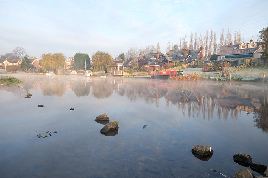 Fog Photograph - River Reflection by Mark Severn
