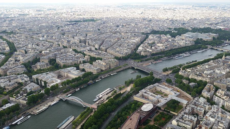 River Seine From Eiffel Tower Photograph