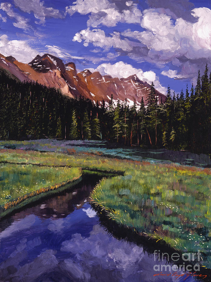 Landscape Painting - River Valley by David Lloyd Glover