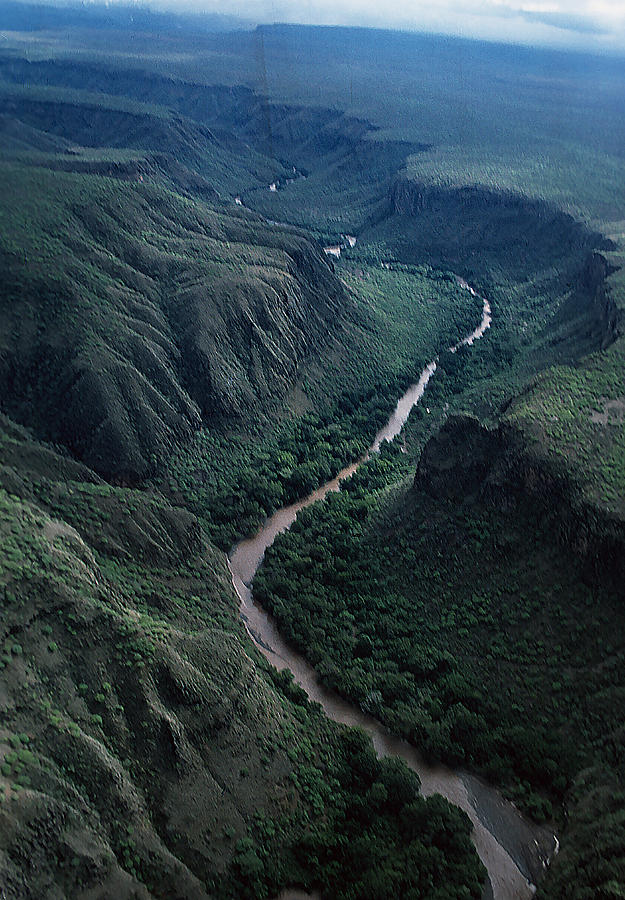 River Winds Across The Addis Ababba Plateau Photograph