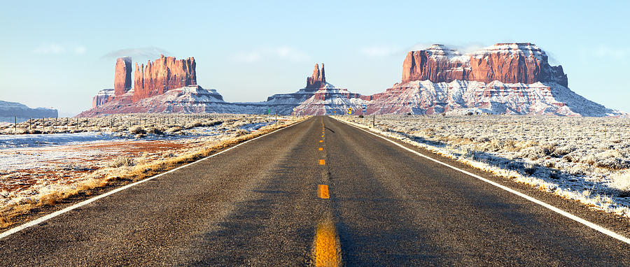 Usa Photograph - Road Lead Into Monument Valley by King Wu