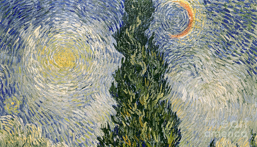 Road With Cypresses Painting - Road With Cypresses by Vincent Van Gogh