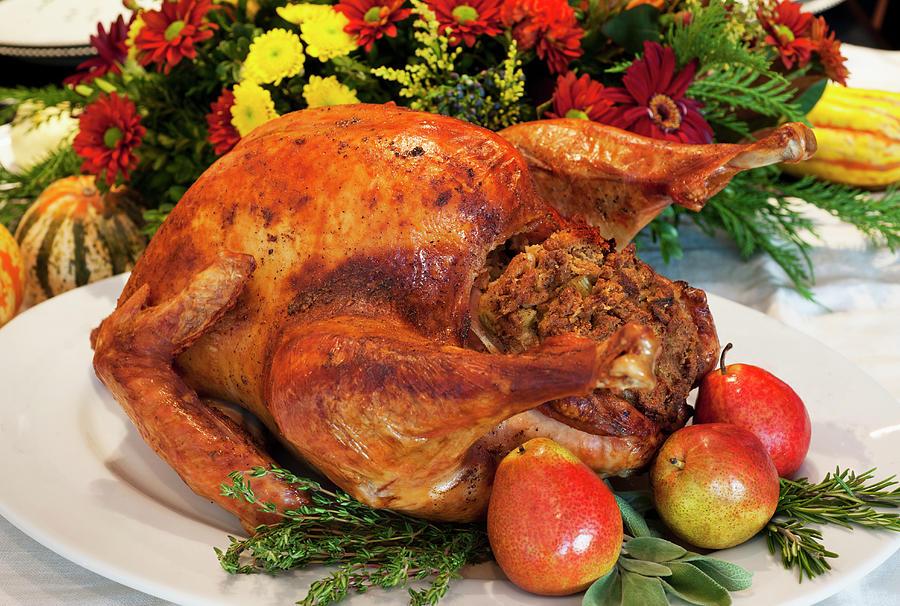 Roast Turkey Photograph by Tetra Images
