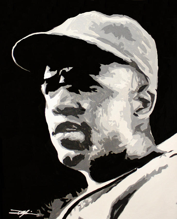 Jackie Robinson Drawing - Robinson 42 by Don Medina
