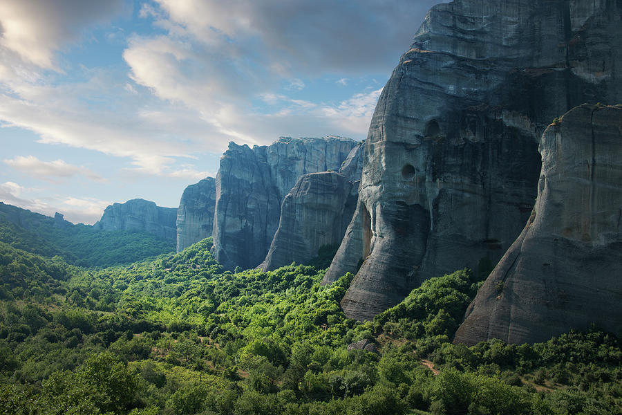 Rock Formations In The Meteora, Greece Photograph by Ed Freeman