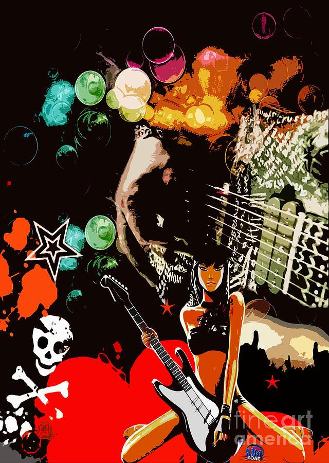 Rock Digital Art by Mundo Arte