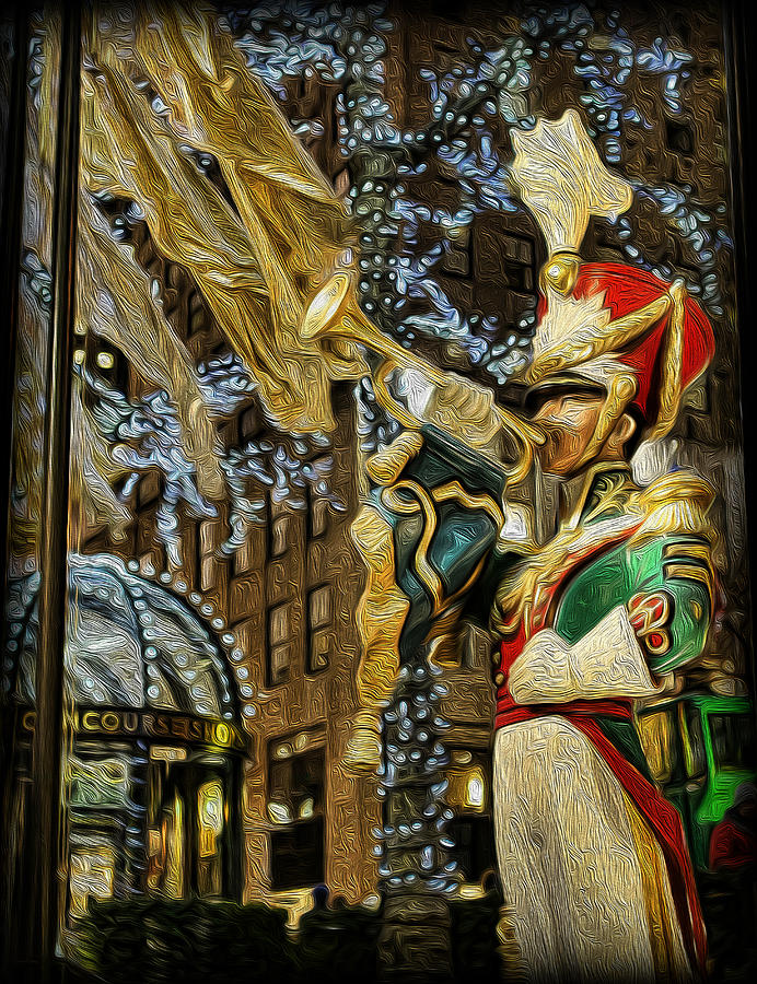 48th Street Photograph - Rockefeller Center Bugle Boy by Lee Dos Santos