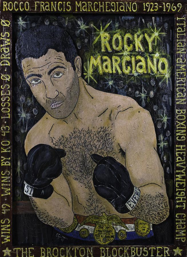 Rocky Painting - Rocky Marciano by Eric Cunningham