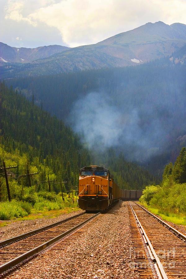 Rocky Mountain Train Photograph