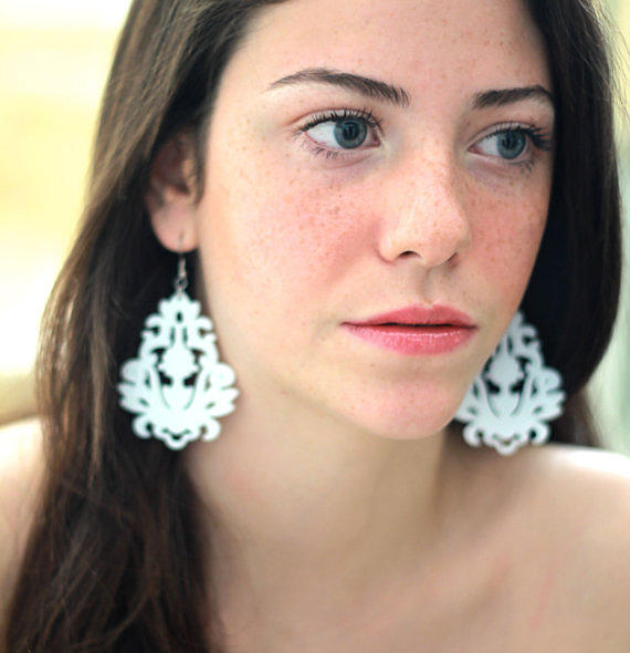 Weddings Jewelry - Romantic Floral Statement Earrings by Rony Bank