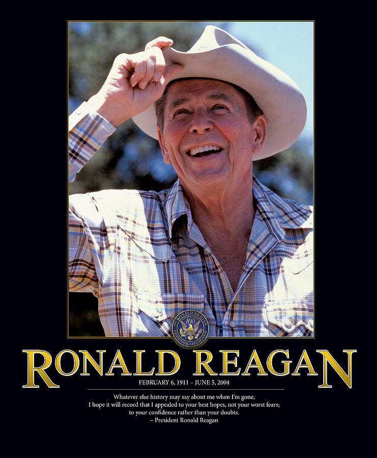 Retro Images Archive Photograph - Ronald Reagan by Retro Images Archive