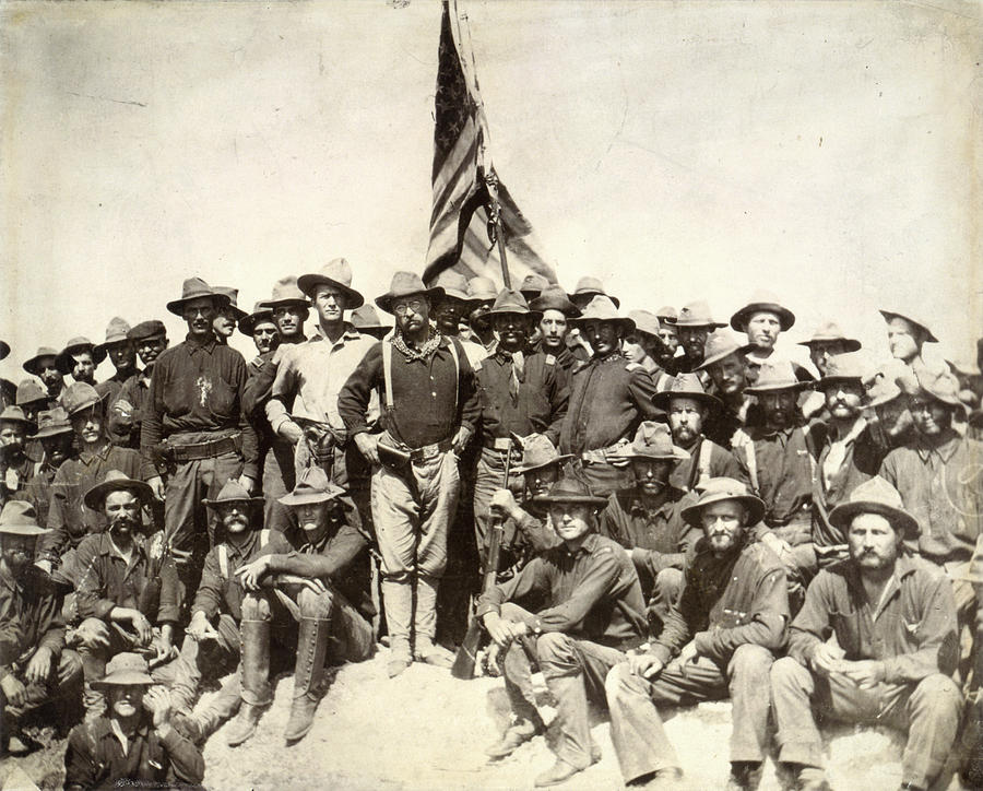 1898 Photograph - Roosevelt & Rough Riders by Granger