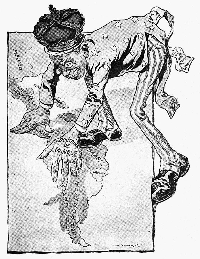 1905 Painting - Roosevelt Cartoon, 1905 by Granger