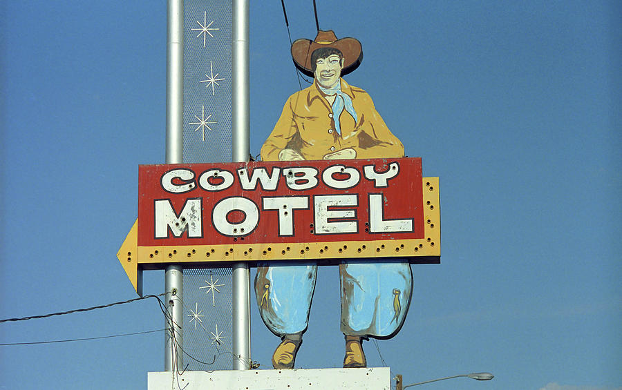 66 Photograph - Route 66 - Cowboy Motel by Frank Romeo