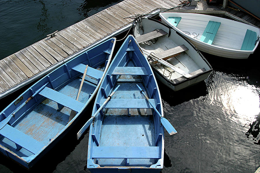 Rowboats Photograph - Rowboats 2 by Jerry Patterson