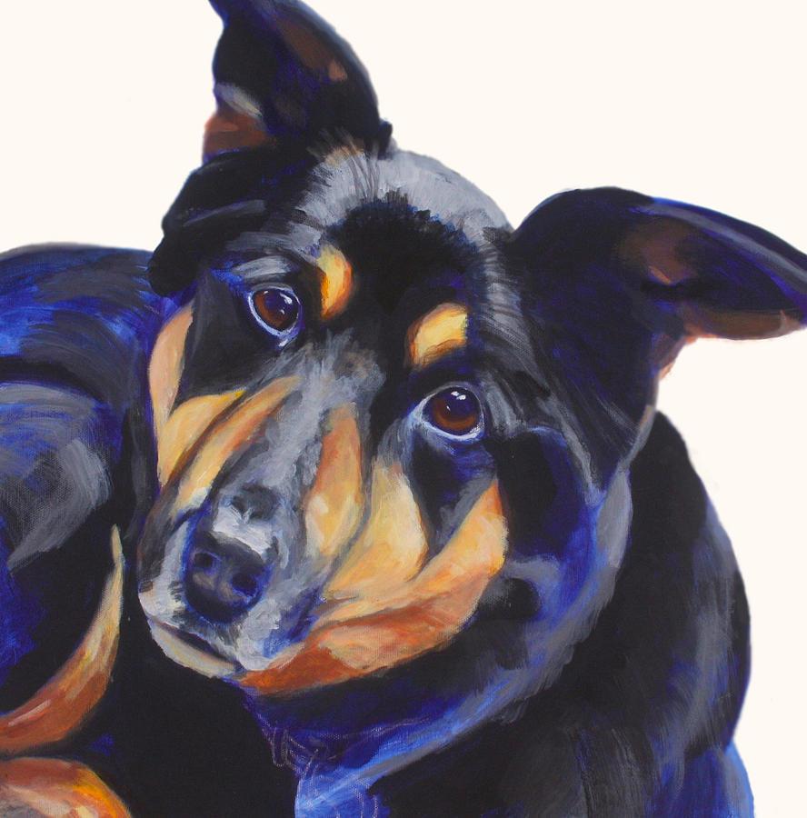 Dog Painting - Roxy by Sarah Vandenbusch