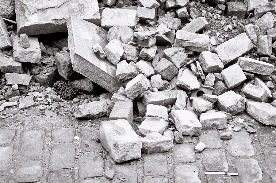 Abstract Photograph - Rubble by Tom Gowanlock