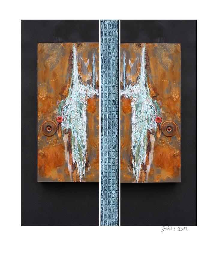 Braun Mixed Media - Rust Art 02 by Gertrude Scheffler