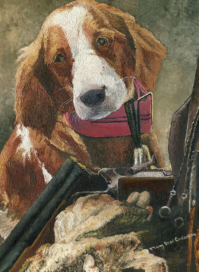 Dog Painting - Rusty - A Hunting Dog by Mary Ellen Anderson