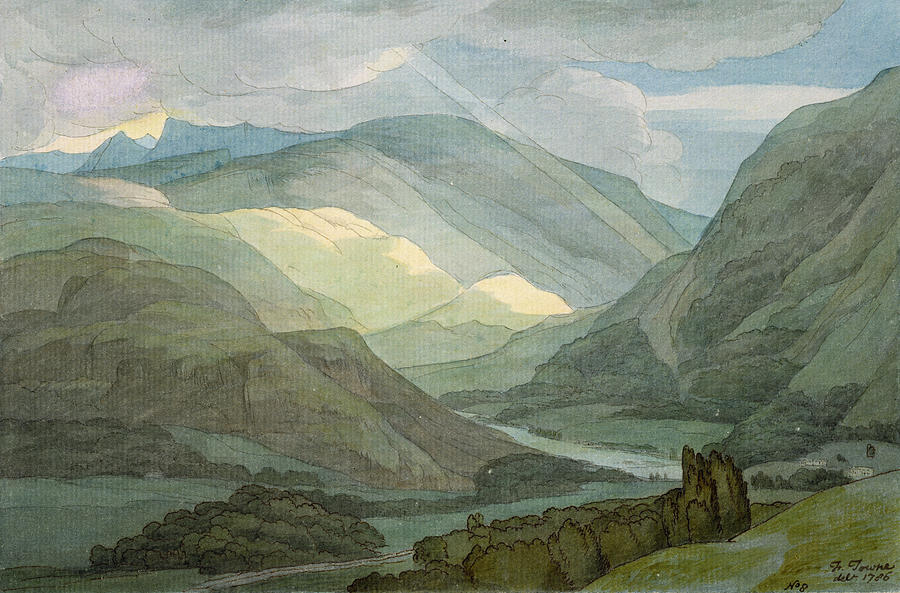 Landscape Painting - Rydal Water by Francis Towne