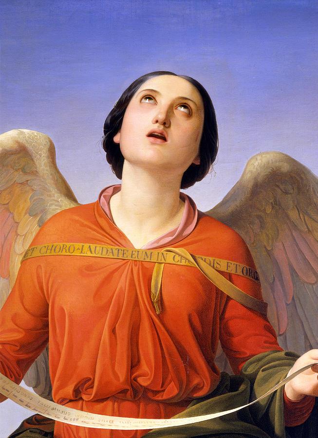 Angel Painting - Sacred Music by Luigi Mussini