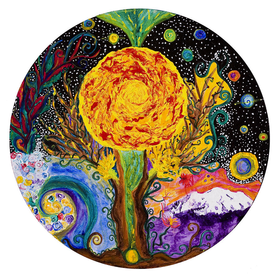Sacred Union Painting - Sacred Union by Wisper Krimmer