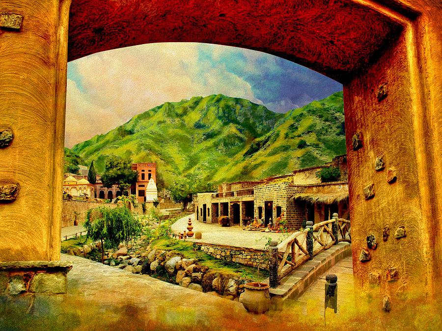 Pakistan Painting - Saidpur Village by Catf