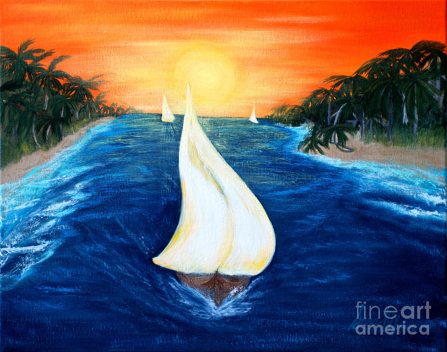 Sailboats. Inspirations Collection. by Oksana Semenchenko