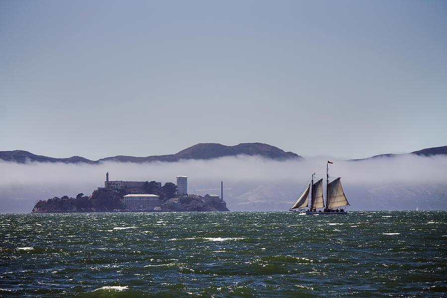Bay Photograph - Sailing To Alcatraz by Dee  Savage