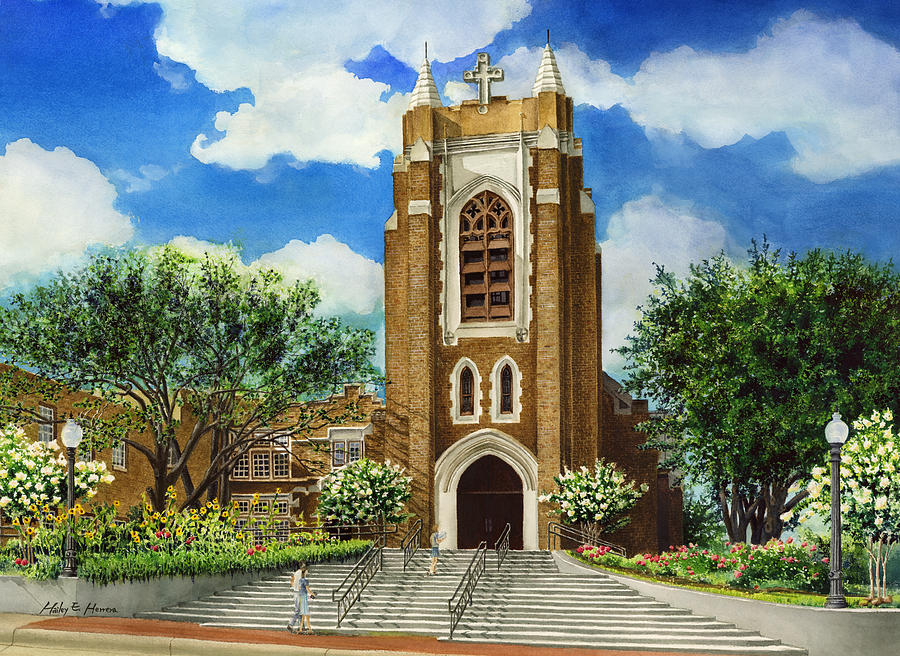 Saint Andrews Episcopal Church Bryan Texas Painting