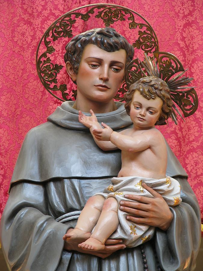 Faith Photograph - Saint Anthony by Richard Faenza