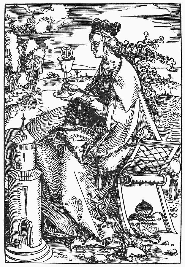 1508 Painting - Saint Barbara (c200 by Granger