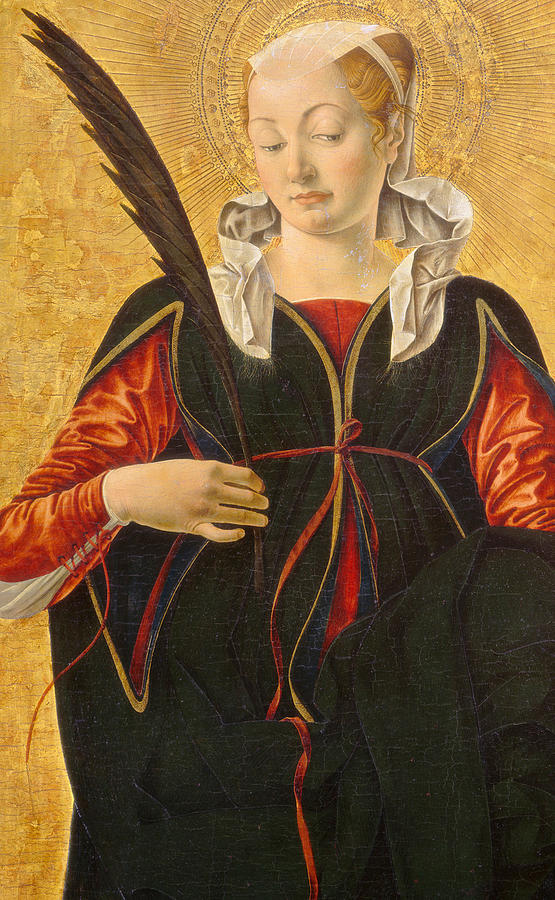 Saint Lucy Painting By Francesco Del Cossa
