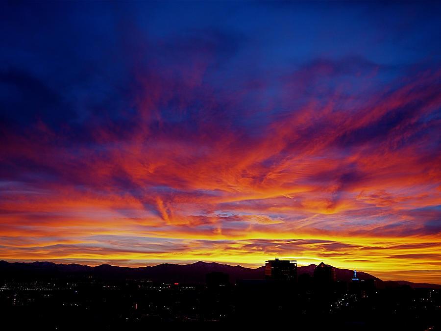 Salt Lake City Photograph - Salt Lake City Sunset by Rona Black