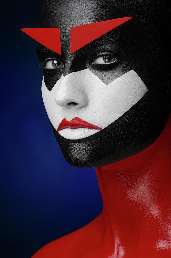 Face Photograph - Samurai by Alex Malikov