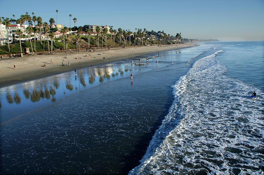 San Clemente Beach Photograph by Mitch Diamond