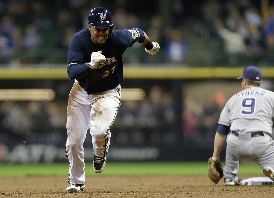 San Diego Padres V Milwaukee Brewers Photograph by Mike Mcginnis
