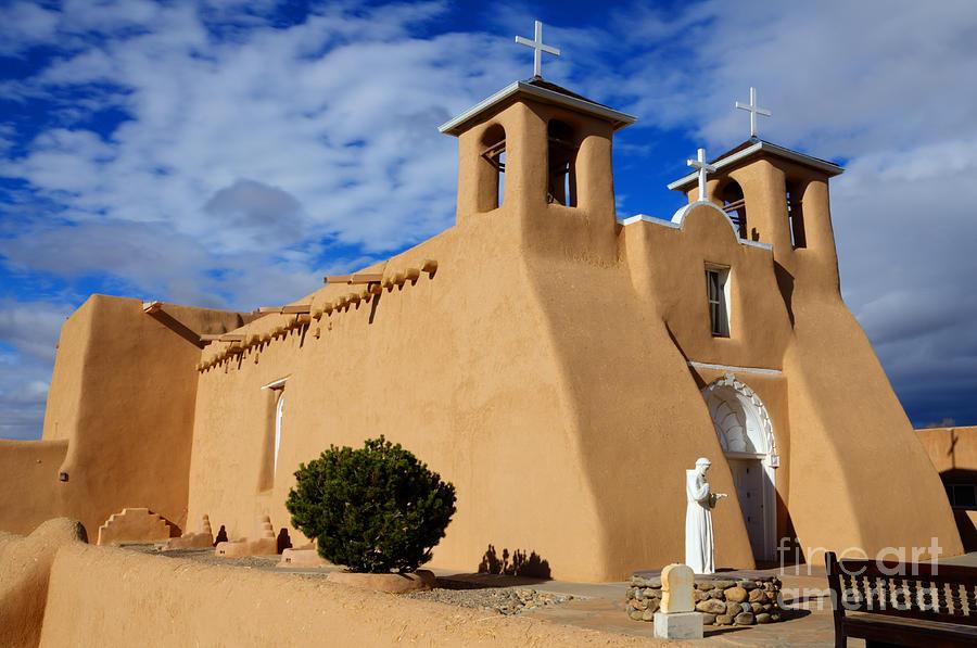Church Photograph - San Francisco De Asis Taos New Mexico 3 by Bob Christopher