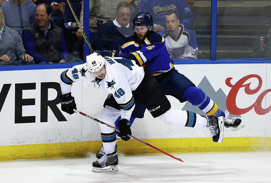 San Jose Sharks V St Louis Blues - Game Photograph by Jamie Squire