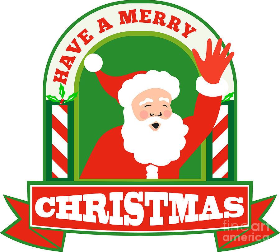 Santa Claus Digital Art - Santa Claus Father Christmas Retro by Aloysius Patrimonio