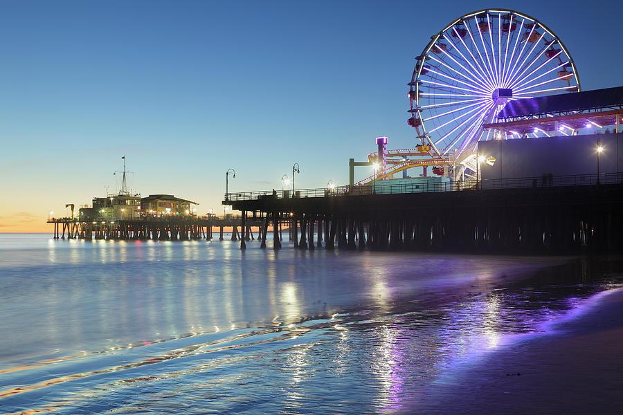 Santa Monica Pier Photograph by S. Greg Panosian