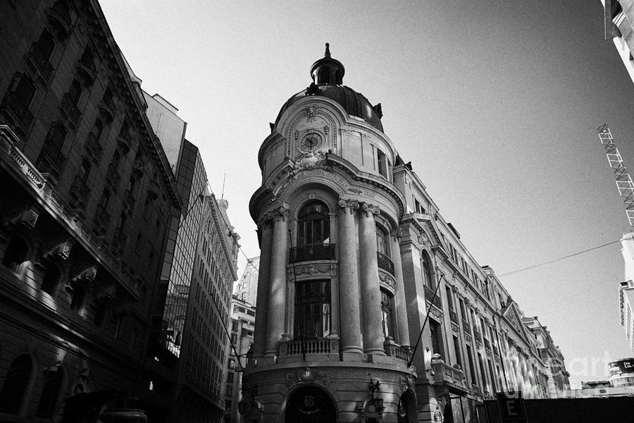Santiago Photograph - Santiago Stock Exchange Building Chile by Joe Fox