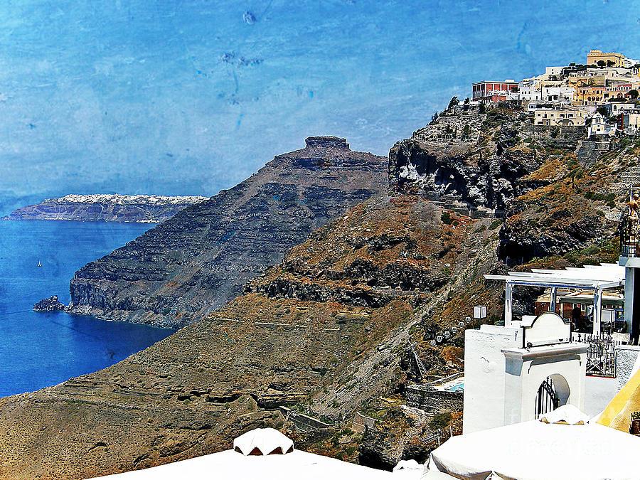 Santorini Photograph - Santorini Caldera by Sophie Vigneault