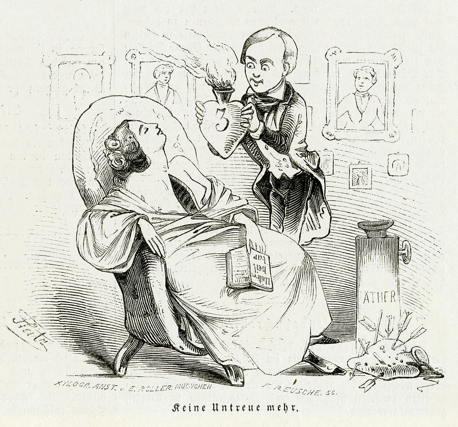Surgery Drawing - Satireresults Of Ether - Surgery by Mary Evans Picture Library