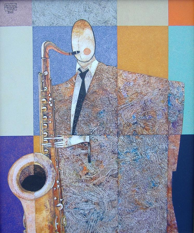 Musician Painting - sax by Patterson Parkin