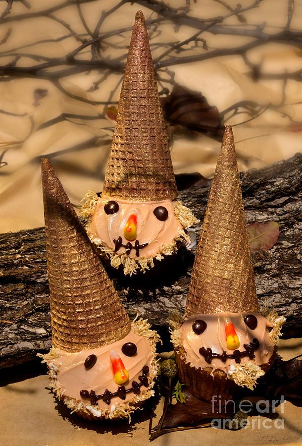Food Photography Photograph - Scarecrow Cupcakes  by Iris Richardson