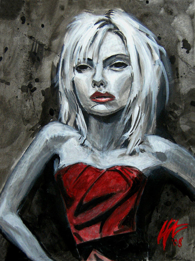 Scarlett Johansson Painting - Scarlett Red Letter by Lance Vaughn