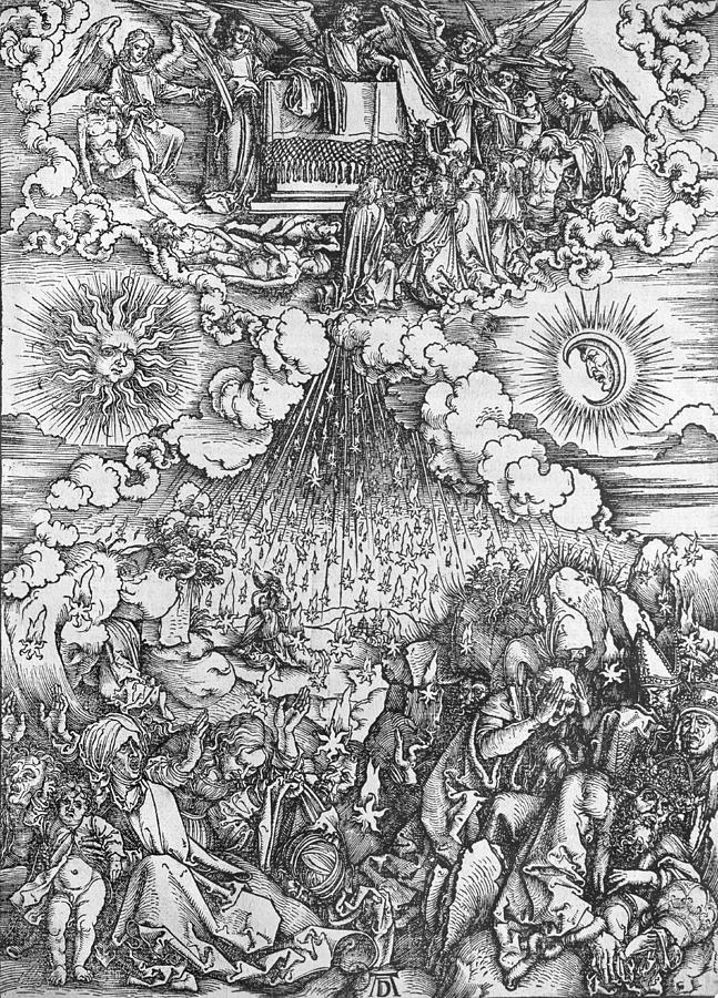 Albrecht Durer Painting - Scene From The Apocalypse 1 by Albrecht Durer or Duerer