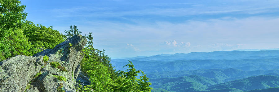 Horizontal Photograph - Scenic View Of Mountain Range by Panoramic Images