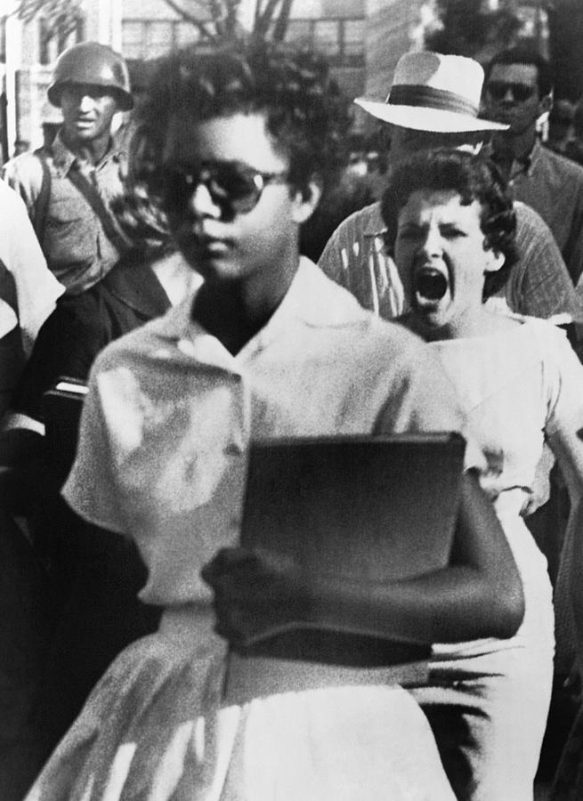 1957 Photograph - School Desegregation, 1957 by Granger